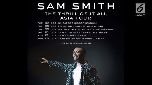 Sam Smith akan segera menggelar tur di Asia. Beberapa kota akan disambangi penyanyi asal Inggris ini, termasuk Indonesia?