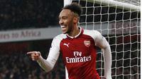 Striker anyar Arsenal Pierre-Emerick Aubameyang siap tampil apik kontra Tottenham Hotspur yang berlangsung Sabtu (10/2/2018) (AFP/Ian Kingston)