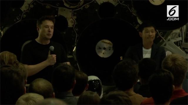The SpaceX Big Falcon Rocket akan memberangkatkan milioner asal Jepang, Yusaku Maezawa untuk tur priva pertama keliling bulan.