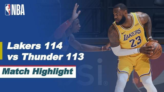 Berita Video Highlights NBA, LA Lakers Menang Dramatis atas Oklahoma City Thunder (11/2/2021)