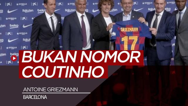 Berita video Antoine Griezmann diperkenalkan Barcelona dengan nomor punggung 17 dan bukan 7, seperti yang dikabarkan sebelumnya.