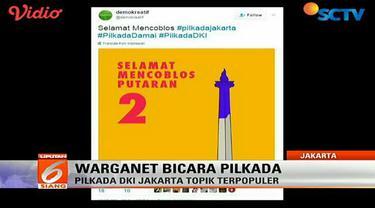 Warganet Turut Ramaikan Pilkada DKI Jakarta di Media Sosial