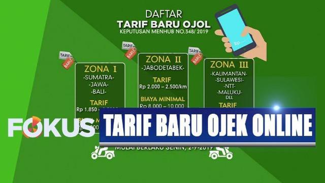 Zona I yakni Sumatera, Jawa, dan Bali kecuali Jabodetabek, tarif dipatok antara 1.850 batas bawah hingga 2.300 rupiah per kilometer untuk batas atas.