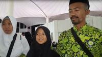 Zahra Fuaida Hakim dan kedua orang tuanya. Liputan6.com/Nurmayanti
