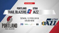 Portland Trail Blazers Vs Utah Jazz (Bola.com/Adreanus Titus)