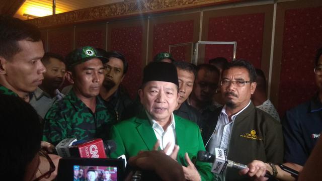 Suharso Monoarfa telah dikukuhkan sebagai Plt Ketua Umum Partai Persatuan Pembangunan (PPP), Selasa (20/3/2019). (Liputan6.com/Achmad Sudarno)