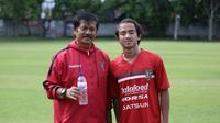 Pelatih Bali United, Indra Sjafri dan Muhammad Rafid Habibie ( Bali United)