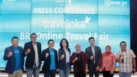 PT BRI (Persero) Tbk bekerja sama dengan Traveloka menggelar BRI-Traveloka Online Travel Fair. Dok BRI