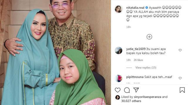 Nita Thalia masih tak percaya mantan suaminya telah meninggal dunia