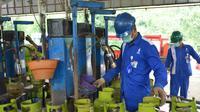 Pertamina menjamin pasokan gas aman saat musim libur lebaran hingga 20 Juni 2019 mendatang. Foto (Liputan6.com / Panji Prayitno)