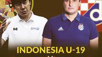 Laga persahabatan Indonesia U-19 vs Dinamo Zagreb U-19: Shin Tae-yong vs Goce Sedloski. (Bola.com/Dody Iryawan)