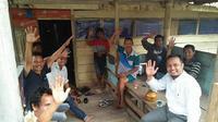 Cawagub Sulsel, Andi Sudirman Sulaiman tebar janji politik di Kabupaten Sidrap, Sulsel (Liputan6.com/ Eka Hakim)