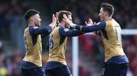 Video highlights gol kedua Arsenal yang dicetak oleh Alex Oxlade-Chamberlain pada menit ke-24 membuat The Gunners