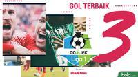 3 Gol Terbaik Liga 1 Indonesia (Bola.com/Adreanus Titus)