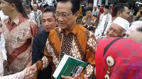 Sultan Hamengkubhawono mengikut gelar Lebaran Ketupat di Kampung Jaton, Minahasa. (Liputan6.com/Yoseph Ikanubun)
