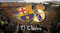 Ilustrasi El Clasico Barcelona Vs Real Madrid, Camp Nou, Barcelona, Sabtu (3/12/2016).