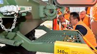 Wamenhan Sakti Wahyu Trenggono hari ini berkunjung ke pabrik pembuatan kendaraan tempur milik Thales di Bendigo, Australia. (Liputan6.com/Putu Merta Surya Putra)