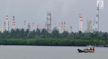 Kilang minyak PT Pertamina.