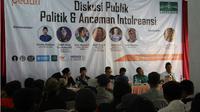 Diskusi Publik 'Politik & Ancaman Intoleransi'. (Liputan6.com/Istimewa)