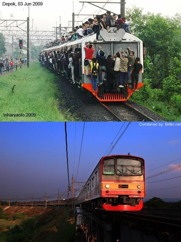 KRL dulu vs sekarang (foto: Trie Haryanto/brilio)