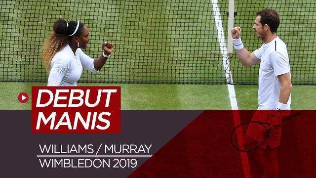 Berita Video Serena Williams dan Andy Murray Jalani debut Manis di Wimbledon 2019