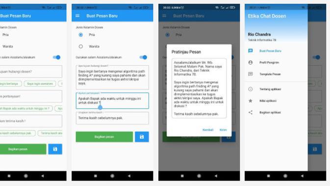 Aplikasi Etika Chat Dosen