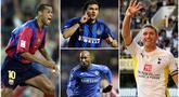 Berikut ini daftar pesepak bola yang selama karier nya sering berpindah klub. Diantaranya adalah Rivaldo, Christian Vieri dan Nicolas Anelka. (Foto Kolase AFP)