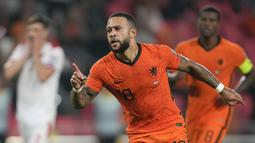 Bermain di Philips Stadion, Minggu (5/9/2021), Belanda menang empat gol tanpa balas. (Foto: AP/Peter Dejong)