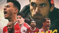 Piala FA - Ilustrasi Juara Piala FA Arsenal (Bola.com/Adreanus Titus)