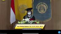 Pengukuhan Guru Besar di FEB Universitas Indonesia Rofikoh Rokhim di FEB Universitas Indonesia, Sabtu (13/3).