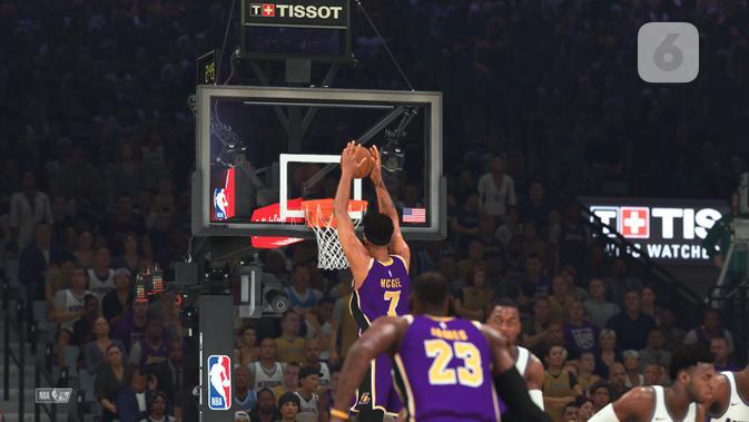 NBA 2K20. (Liputan6.com/ Yuslianson)