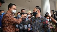 Gubernur DKI Jakarta Anies Baswedan dan Ketua Umum Partai Demokrat Agus Harimurti Yudhoyono atau AHY. (Dok akun Twitter @AgusYudhoyono)