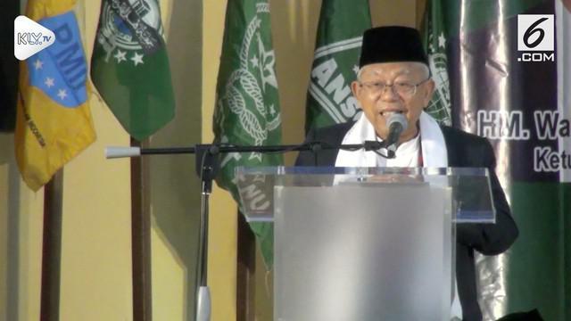 Saat menghadiri peringatan Hari Santri Nasional di Palangkaraya, Kalimantan Tengah. Ma'ruf Amin menolak tua dan masih bersemangat untuk menjadi calon wakil presiden.