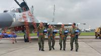 4 Jenderal Memakai Pakaian Pilot Tempur di Halim Perdana Kusuma (Liputan6.com/Nanda Perdana Putra)