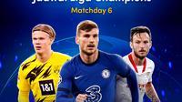 Streaming pertandingan lengkap Liga Champions 2020/2021 matchday keenam, 9-10 Desember 2020 dapat disaksikan melalui platform Vidio. (Dok. Vidio)