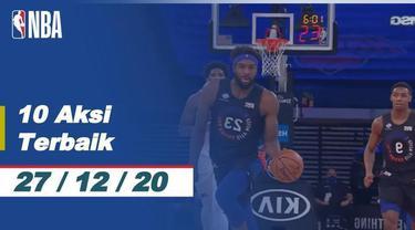 Berita video 10 aksi terbaik NBA 27 Desember 2020, salah satunya aksi slam dunk Mitchell Robinson