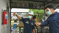 Kepala BPH Migas M Fanshurullah Asa dan Anggota Komisi VII DPR RI Ridwan Hisjam melakukan kunjungan kerja ke Demak untuk meninjau pembangunan pipa distribusi gas bumi milik PT Pertagas Niaga.