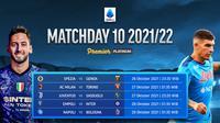 Jadwal dan Live Streaming Liga Italia Serie A Matchday 10 di Vidio Pekan Ini. (Sumber : dok. vidio.com)