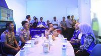 Kapolri Jenderal Tito Karnavian meresmikan Posko GreenLine di Mega City Bekasi, Bekasi Barat pada Jumat (16/3/2018). (Liputan6.com/Hanz Jimenez Salim)