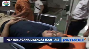Kondisi Menteri Agama, Lukman Hakim Saifuddin, usai tersengat ikan pari mulai membaik dan siap kembali ke Jakarta.
