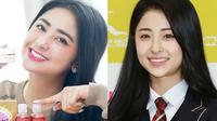 Dewi Perssik Ternyata Miliki 'Kembaran' Seleb Korea (sumber: Instagram.com/dewiperssikreal & Instagram.com/heoyoonjin_)
