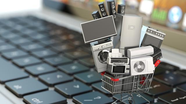 Ilustrasi online shopping.