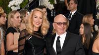 Rupert Murdoch dan Jerry Hall (AFP/Bintang.com)