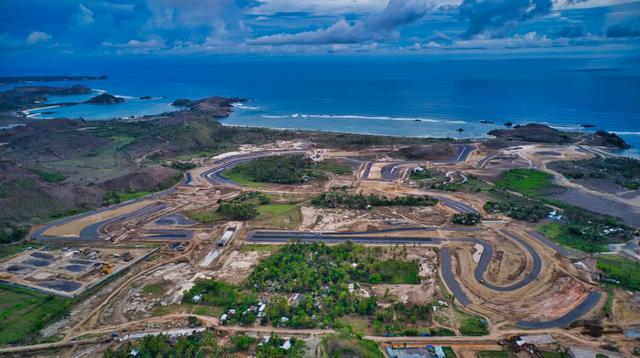 Tampak progres pembangunan Sirkuit Mandalika, Lombok yang diplot untuk menggelar MotoGP Indonesia. Gambar ini diambil pada Januari 2021. (MGPA)