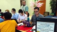 Suasana Kantor Pelayanan Pajak (KPP) Tanah Abang Dua dan Tiga, Jakarta Pusat. (Fiki Ariyanti/Liputan6.com)
