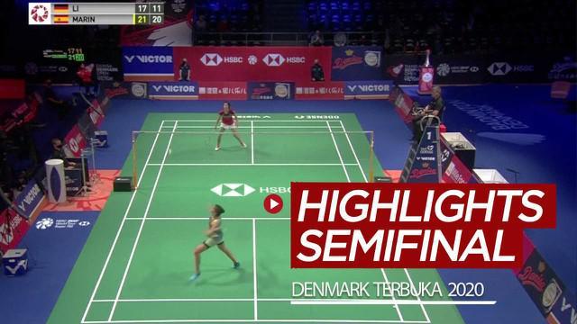 Berita video highlights 8 laga semifinal Denmark Terbuka 2020, di mana Carolina Marin dan Anders Antonsen ke partai puncak, Sabtu (17/10/2020).