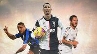 Ilustrasi Pemain - Eden Hazard, Alexis Sanchez, Cristiano Ronaldo (Bola.com/Adreanus Titus)