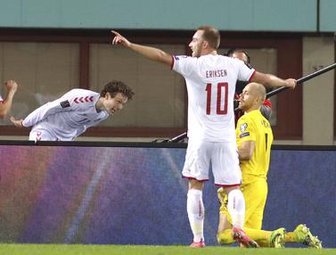 FOTO: Denmark Bantai Austria 4-0 di Kualifikasi Piala Dunia 2022