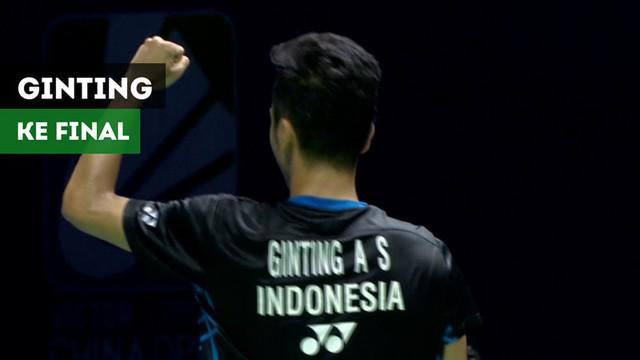 Berita video highlight kemenangan tunggal putra Indonesia, Anthoni Ginting, atas wakil Chinese Taipei, Chou Tien Chen, pada semifinal China Terbuka 2018, Sabtu (22/9/2018)