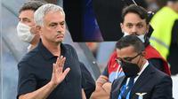 Dengan kekalahan ini, pasukan Jose Mourinho tertahan di posisi 4 klasemen sementara dengan mengoleksi 12 poin dari 6 laga yang telah dijalani. (AFP/Vincenzo Pinto)